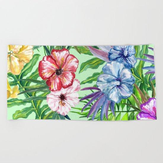 Tropical Summer #14 Beach Towel