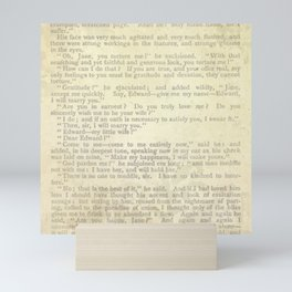Jane Eyre, Mr. Rochester Proposal by Charlotte Bronte Mini Art Print