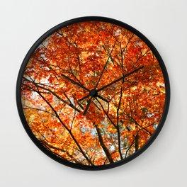Maple tree foliage Wall Clock
