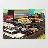 cars Canvas Prints featuring Cars by Dave Collinson