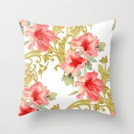 Scroll Azelea Throw Pillow