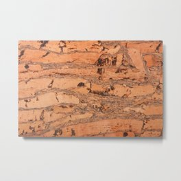 Brown cork material texture Metal Print