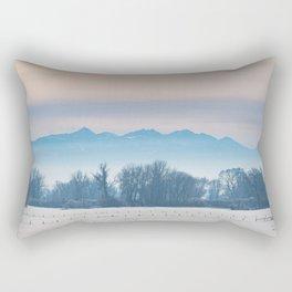 Spanish Peaks Fog Rectangular Pillow
