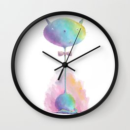 kitty cat by dana alfonso Wall Clock