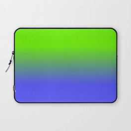 Neon Blue and Neon Green Ombré  Shade Color Fade Laptop Sleeve