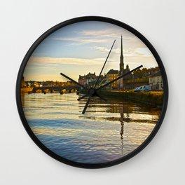 River Ayr in Autumn Wall Clock