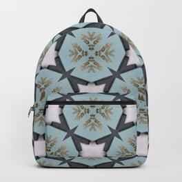 Soft Teal Blue & Gold No. 3 Backpack