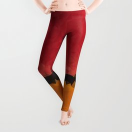 Untitled After Rothko Low Poly Geometric Triangles Leggings