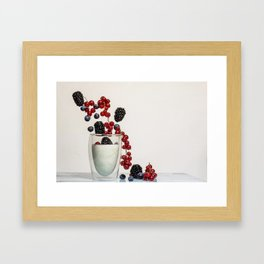 fruits and yogurt Framed Art Print