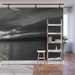 Sunset in Black and White Wall Mural
