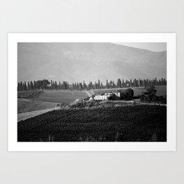 Casa di campagna in Toscana Art Print