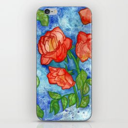 Peachy Colored Roses iPhone Skin