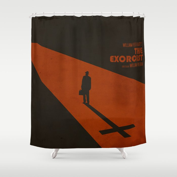 The Exorcist Inspired Vintage Movie Poster Shower Curtain