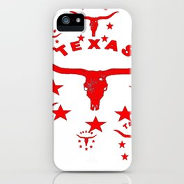 Red & White Texas Longhorn Logo Pattern Art iPhone Case