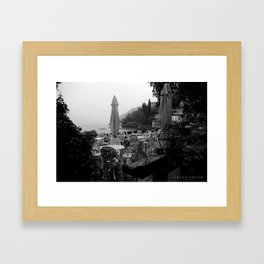 Terrace on Como Lake Framed Art Print