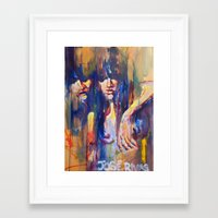 sisters Framed Art Prints featuring Sisters by Jose Rivas