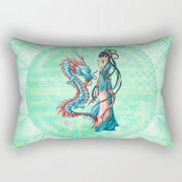Blue dragon Rectangular Pillow