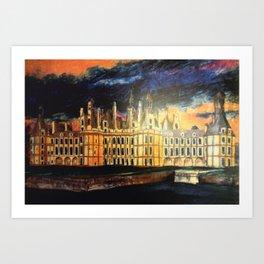 Chambord Chateau – Romantic France Art Print