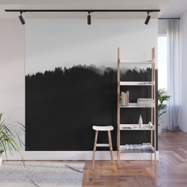 Black Wood In The Mist Wall Mural