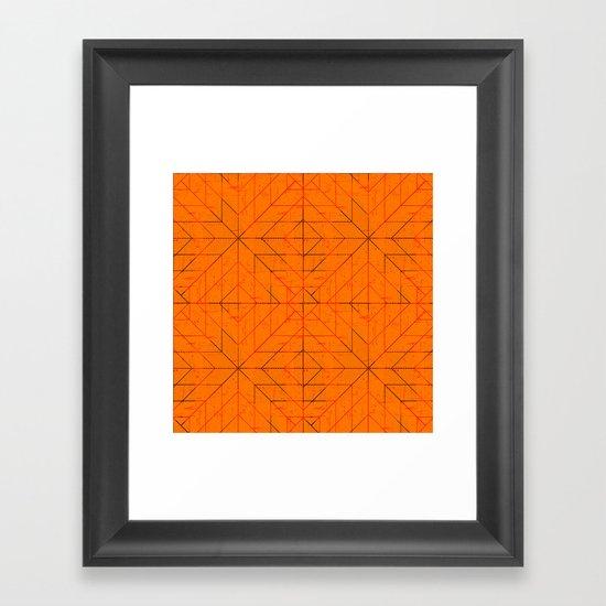 Geometric Lines Framed Art Print
