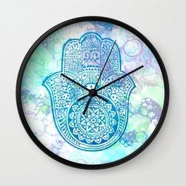 Hamsa Bubbles Wall Clock