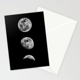 Phases of the Moon print black-white monochrome new lunar eclipse poster home bedroom wall decor Stationery Cards