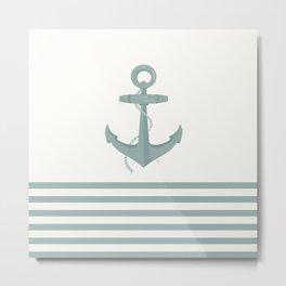 AFE Conch Green Nautical Anchor Metal Print