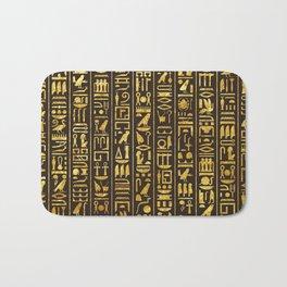Gilded Hieroglyphs Bath Mat
