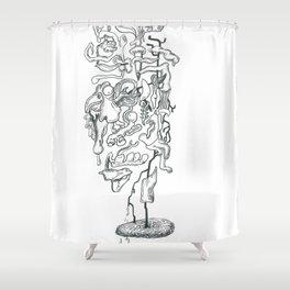 Outward Innards Shower Curtain