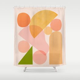 Abstraction_SHAPES_COLOR_Minimalism_002 Shower Curtain