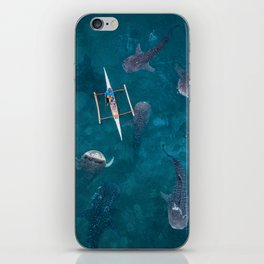 Swimming with whale sharks! iPhone Skin