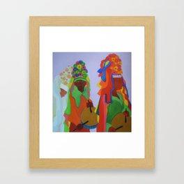 Festa do Rosario, Colorful Art, Brazil, Parade, Headdress and Drums Framed Art Print