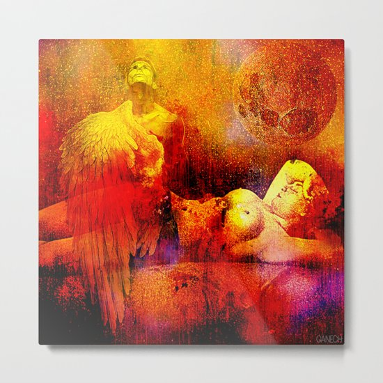 Sleep with an angel Metal Print