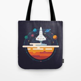 Space Shuttle & Solar System Tote Bag