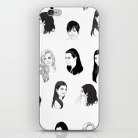 kardashian iPhone & iPod Skins featuring Keeping Up (Black and White) by Shany Atzmon