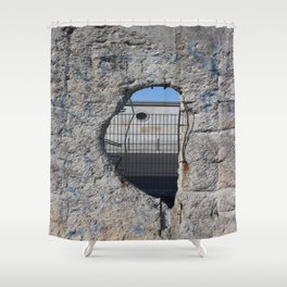 Berlin wall .... Another hole in the wall 3 Shower Curtain