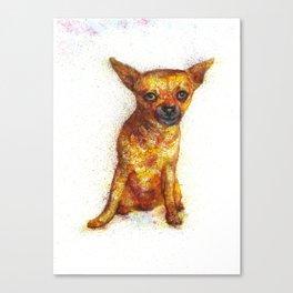 Dog watercolor print Canvas Print