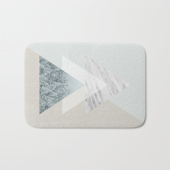Snow into the forest Bath Mat