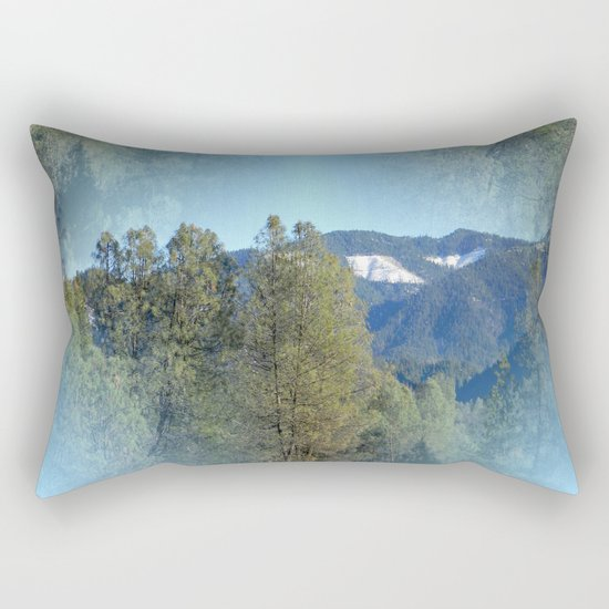 In the mountains... Rectangular Pillow
