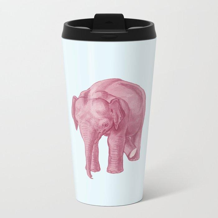 Pink elephants and the emperor of icecream Metal Travel Mug