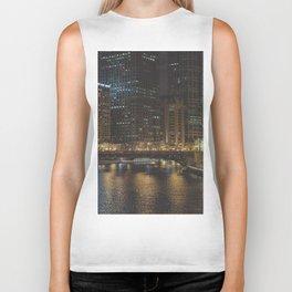 Chicago Skyline Nightshot Biker Tank