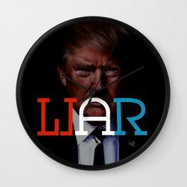 """WAR/LIAR"" Political word shift Ambigram Wall Clock"