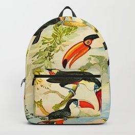 Album de aves amazonicas - Emil August Göldi - 1900 Tropical Colorful Amazon Birds Backpack