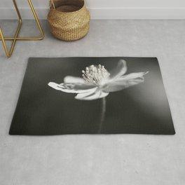 White Anemone Flower in Black And White #decor #society6 #buyart Rug