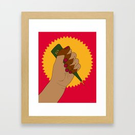 Henna Power Framed Art Print