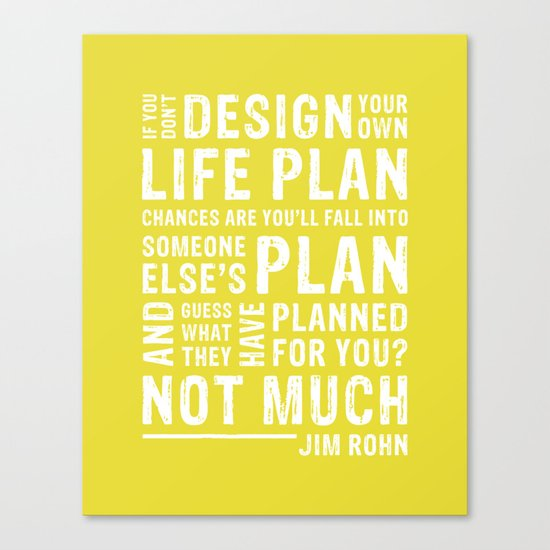 Design Your Life •Chartreuse Canvas Print