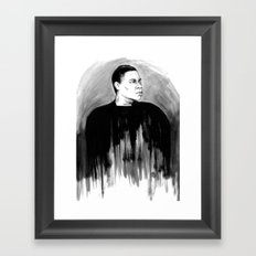 DARK COMEDIANS: Tracy Morgan Framed Art Print