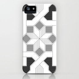 Oriental Pattern - Geometric Design - lines iPhone Case