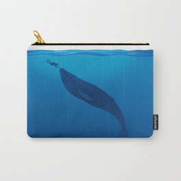 The Whale and a Human Carry-All Pouch