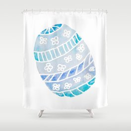 Easter Egg in Blue and Teal Shower Curtain